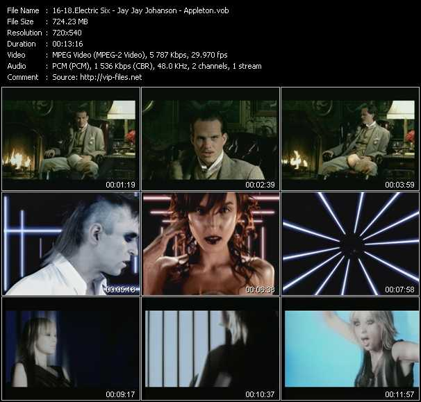 Electric Six - Jay Jay Johanson - Appleton video screenshot