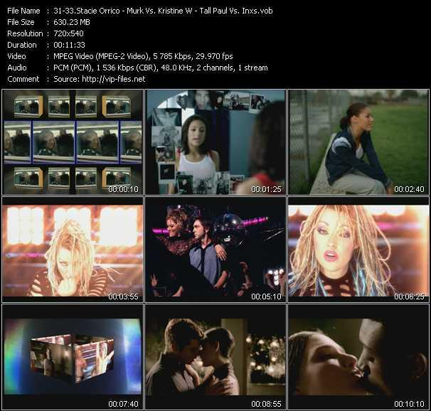 Stacie Orrico - Murk Vs. Kristine W - Tall Paul Vs. Inxs video screenshot