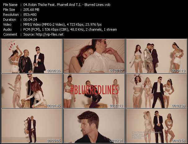 Robin Thicke Feat. Pharrell Williams And T.I. video screenshot
