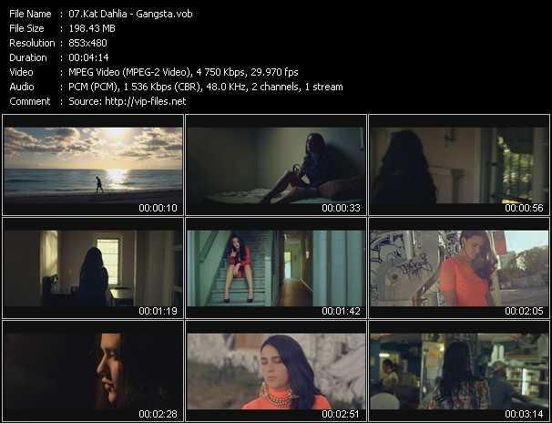 Kat Dahlia video screenshot