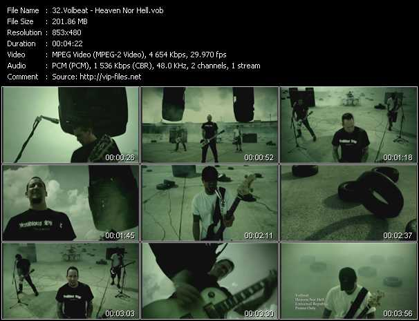 Volbeat video screenshot