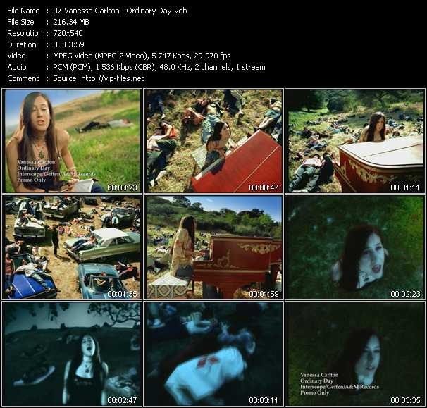Vanessa Carlton video screenshot