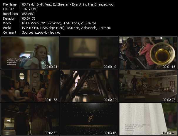 Taylor Swift Feat. Ed Sheeran video screenshot
