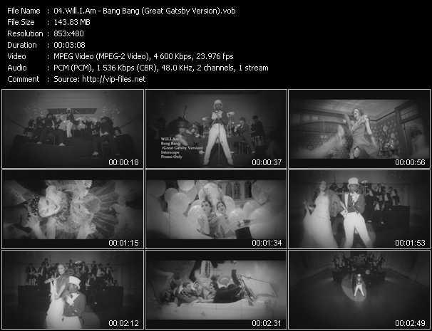 video Bang Bang (Great Gatsby Version) screen