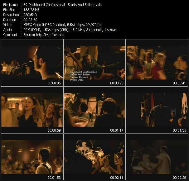 Dashboard Confessional video screenshot