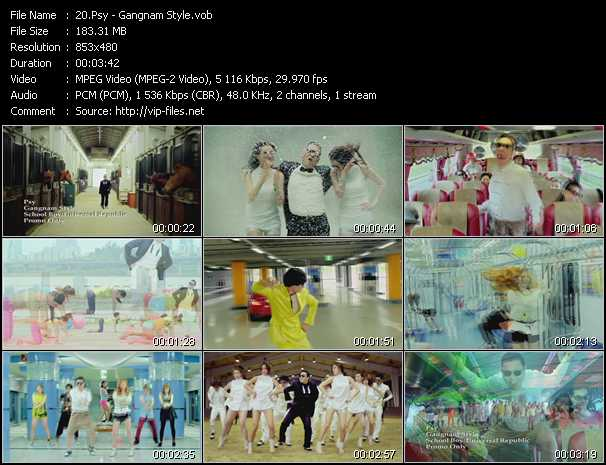 Psy video screenshot