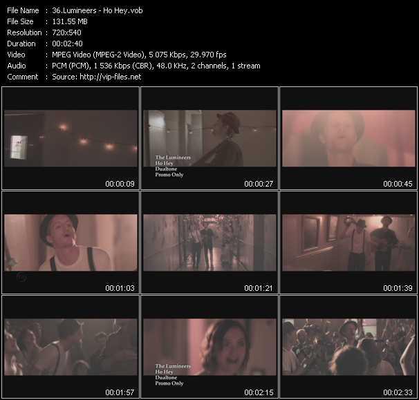 Lumineers video screenshot