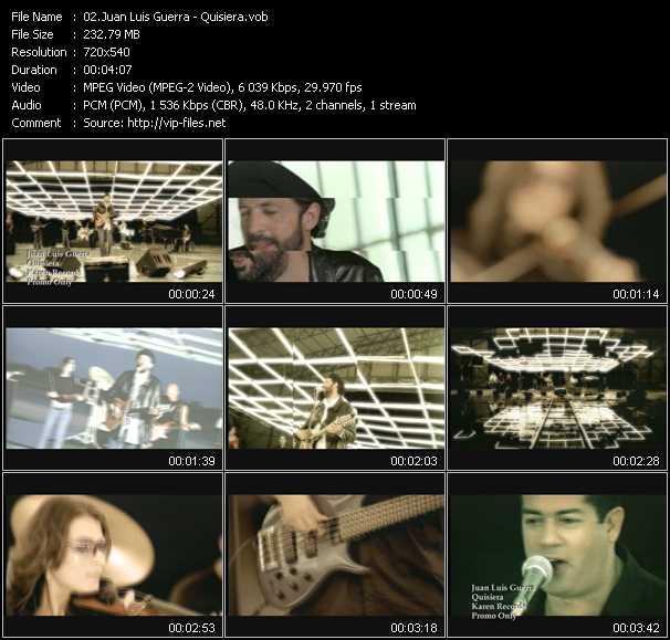 Juan Luis Guerra video screenshot