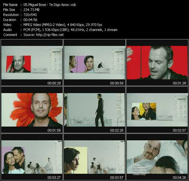Miguel Bose video screenshot
