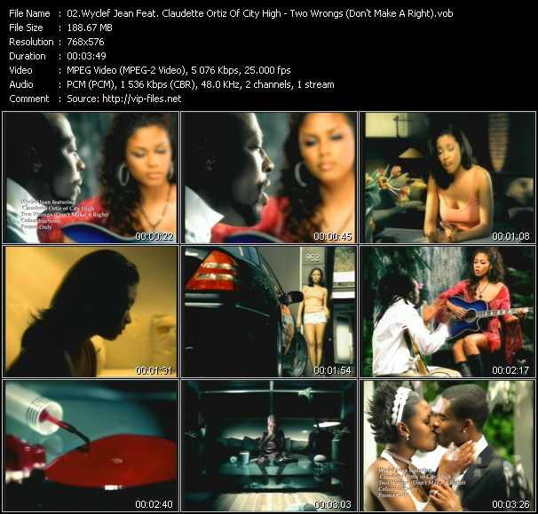 Wyclef Jean Feat. Claudette Oritz Of City High video screenshot