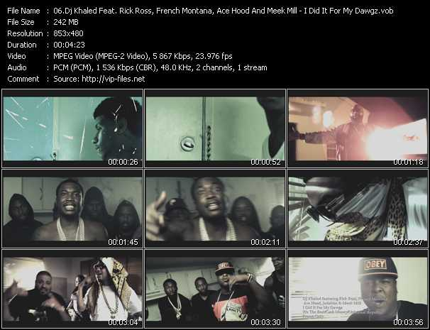 Dj Khaled Feat. Rick Ross, French Montana, Ace Hood, Jadakiss And Meek Mill video screenshot
