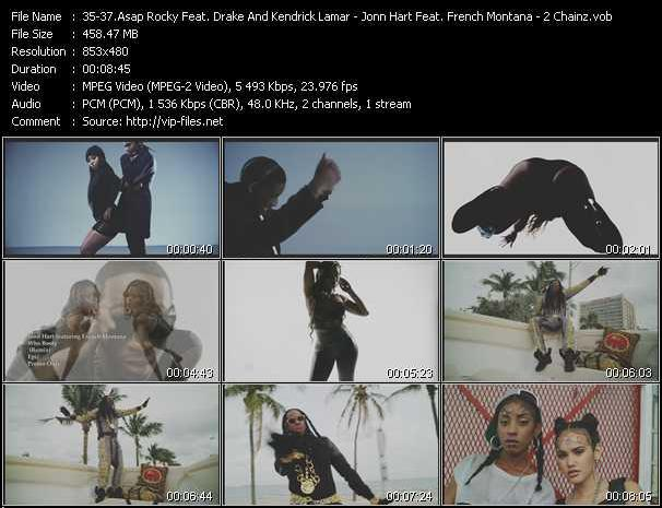 Asap Rocky Feat. Drake, 2 Chainz And Kendrick Lamar - Jonn Hart Feat. French Montana - 2 Chainz video screenshot