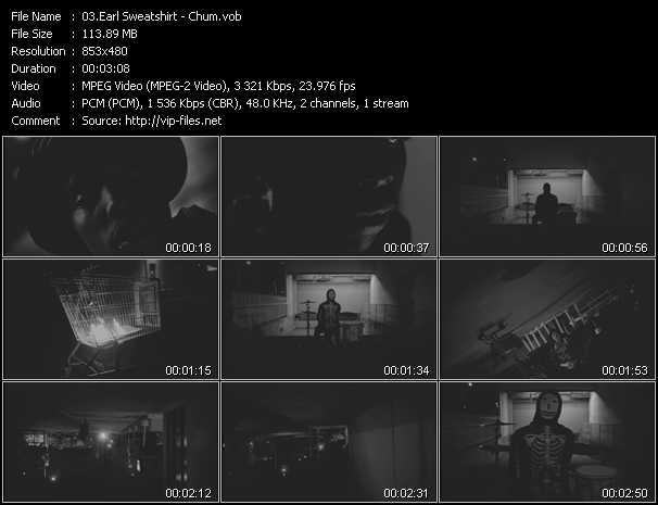 Earl Sweatshirt video screenshot