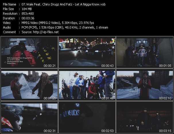 Wale Feat. Chinx Drugz And Fatz video screenshot