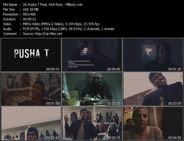 Pusha T Feat. Rick Ross video screenshot