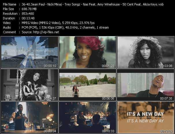Sean Paul Feat. Kelly Rowland - Nicki Minaj - Trey Songz - Nas Feat. Amy Winehouse - 50 Cent Feat. Dr. Dre And Alicia Keys video screenshot