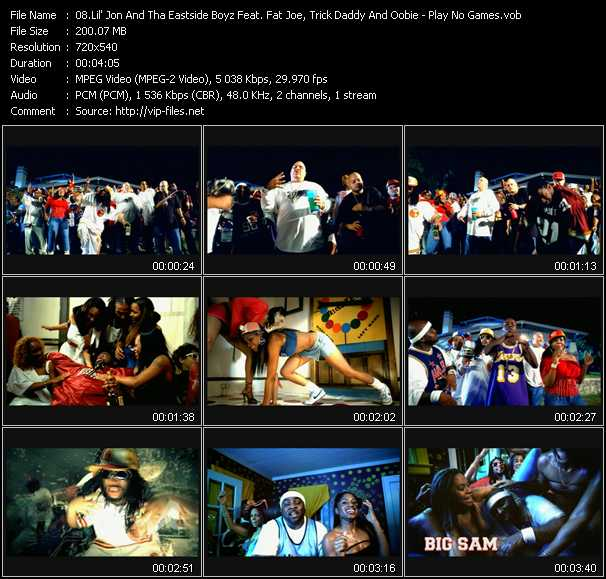 Lil' Jon And The East Side Boyz Feat. Fat Joe, Trick Daddy And Oobie video screenshot
