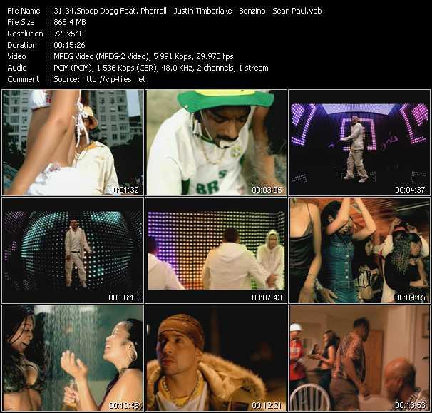 Snoop Dogg Feat. Pharrell Williams - Justin Timberlake - Benzino - Sean Paul video screenshot