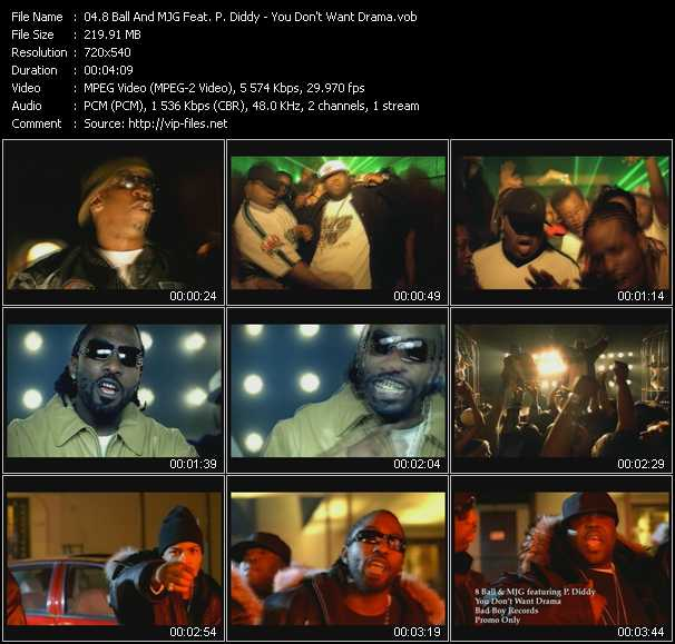 8Ball (Eightball) And MJG Feat. P. Diddy (Puff Daddy) video screenshot