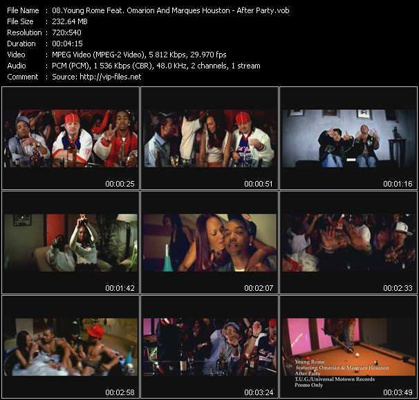 Young Rome Feat. Omarion And Marques Houston video screenshot