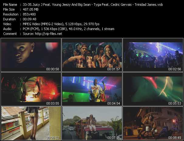 Juicy J Feat. Young Jeezy And Big Sean - Tyga Feat. Cedric Gervais, Wiz Khalifa And Mally Mall - Trinidad James video screenshot