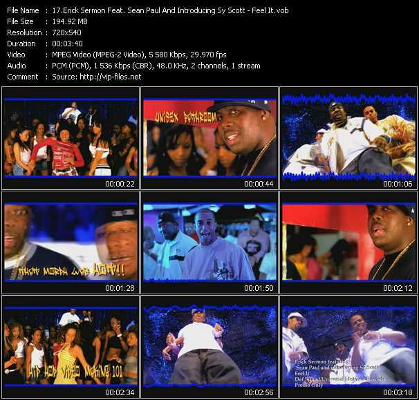 Erick Sermon Feat. Sean Paul And Introducing Sy Scott video screenshot