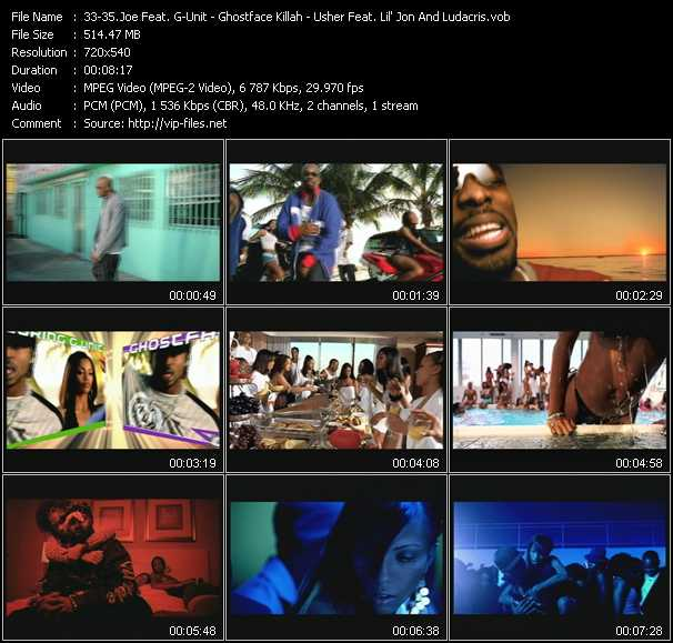 Joe Feat. G-Unit - Ghostface Killah - Usher Feat. Lil' Jon And Ludacris video screenshot