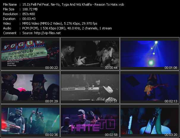 Dj Felli Fel Feat. Ne-Yo, Tyga And Wiz Khalifa video screenshot