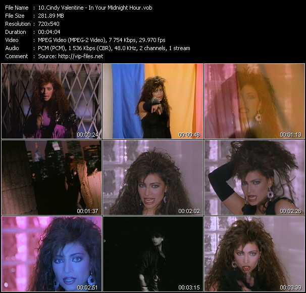 Cindy Valentine video screenshot