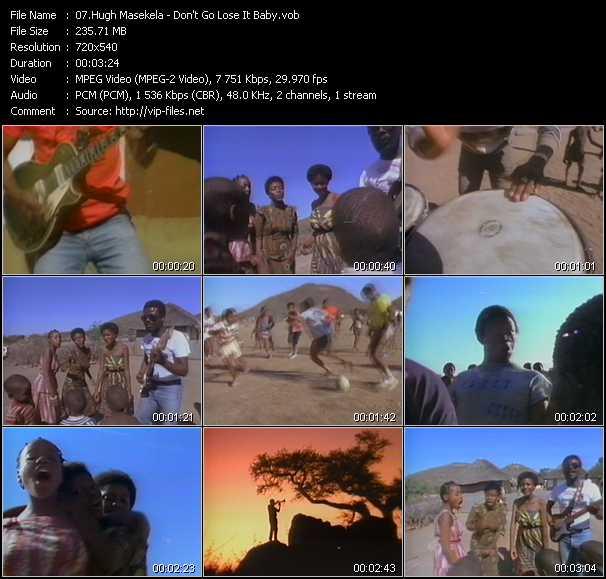 Hugh Masekela video screenshot