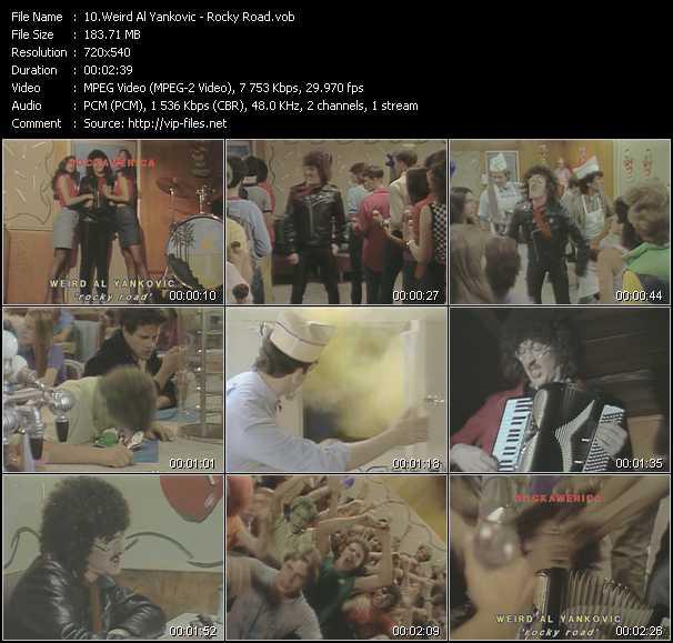 Weird Al Yankovic video screenshot