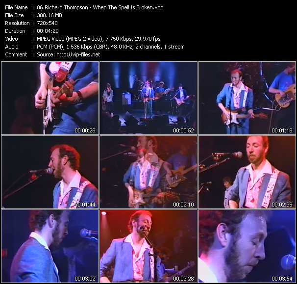 Richard Thompson video screenshot