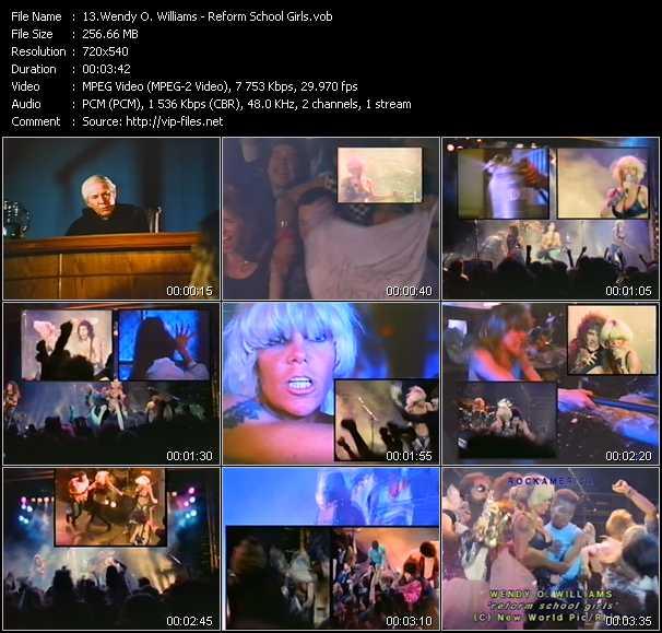 Wendy O. Williams video screenshot