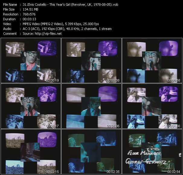 Elvis Costello video screenshot