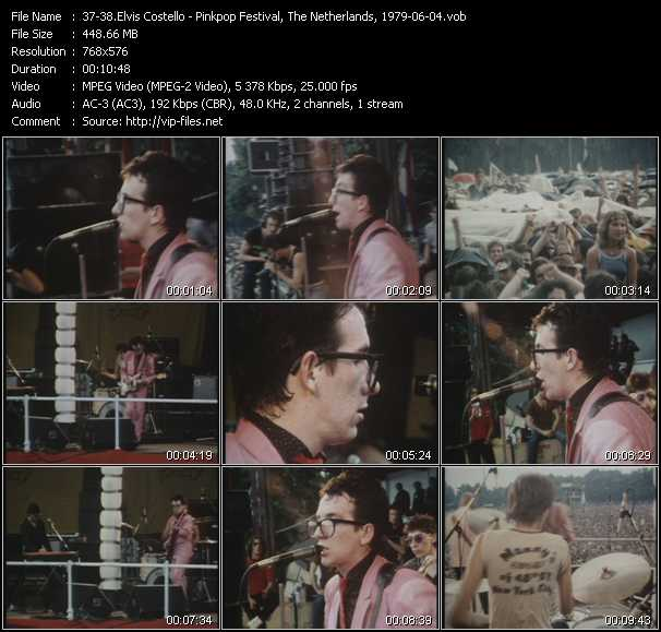 video Lipstick Vogue - Watching The Detectives (Pinkpop Festival, The Netherlands, 1979-06-04) screen