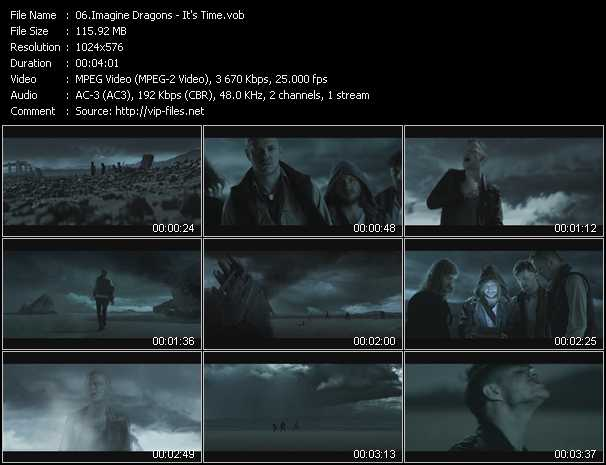 Imagine Dragons video screenshot