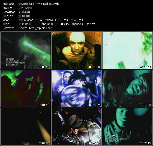 Roni Size video screenshot