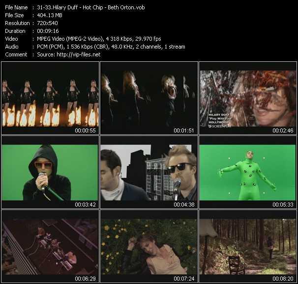 Hilary Duff - Hot Chip - Beth Orton video screenshot