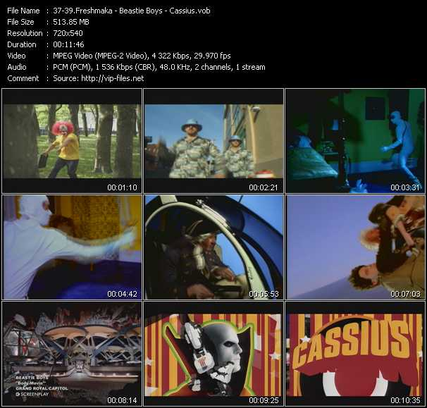 Freshmaka - Beastie Boys - Cassius video screenshot