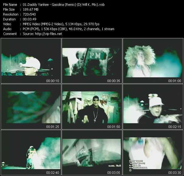video Gasolina (Remix) (Dj Will K. Mix) screen