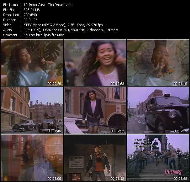 Irene Cara video screenshot