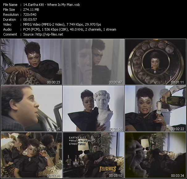 Eartha Kitt video screenshot