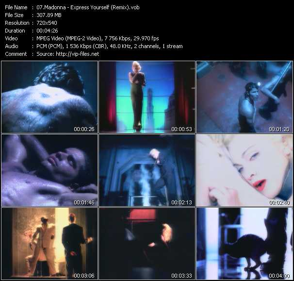 video Express Yourself (Remix) screen