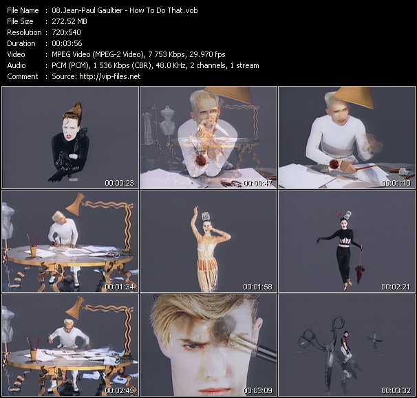 Jean-Paul Gaultier video screenshot