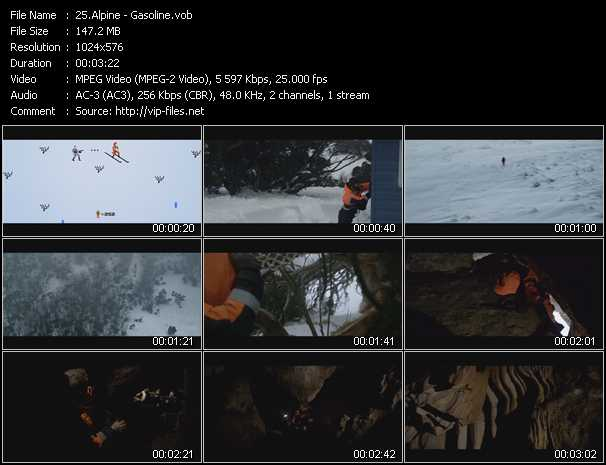 Alpine video screenshot
