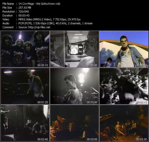 Cro-Mags video screenshot