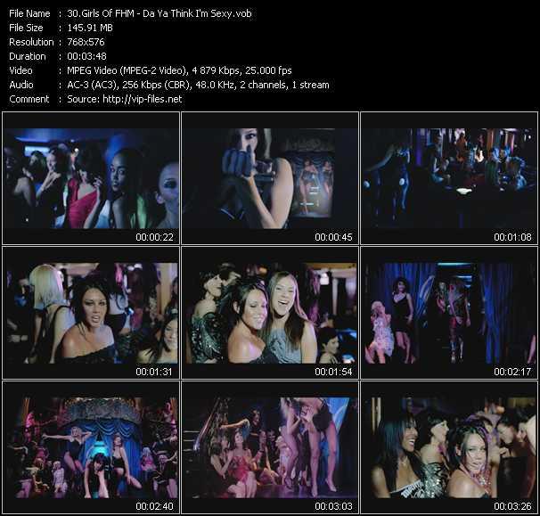 Girls Of FHM video screenshot