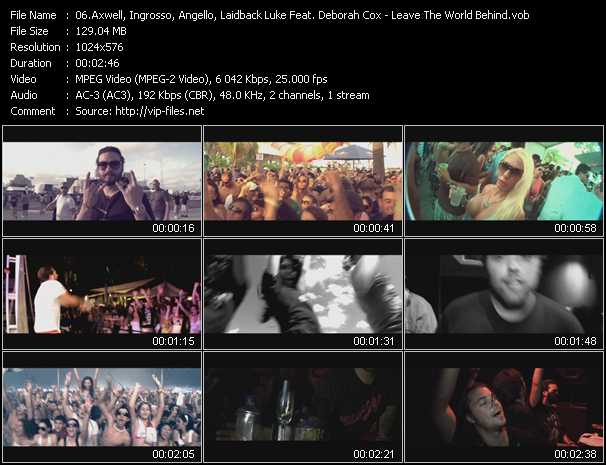Axwell, Ingrosso, Angello, Laidback Luke Feat. Deborah Cox video screenshot