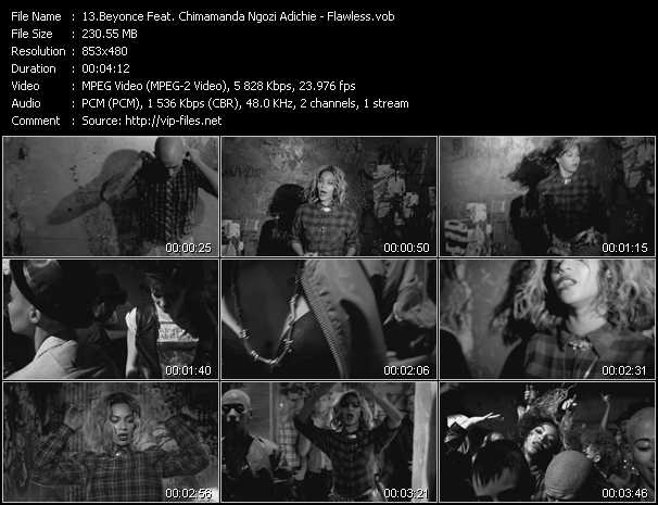 Beyonce Feat. Chimamanda Ngozi Adichie video screenshot