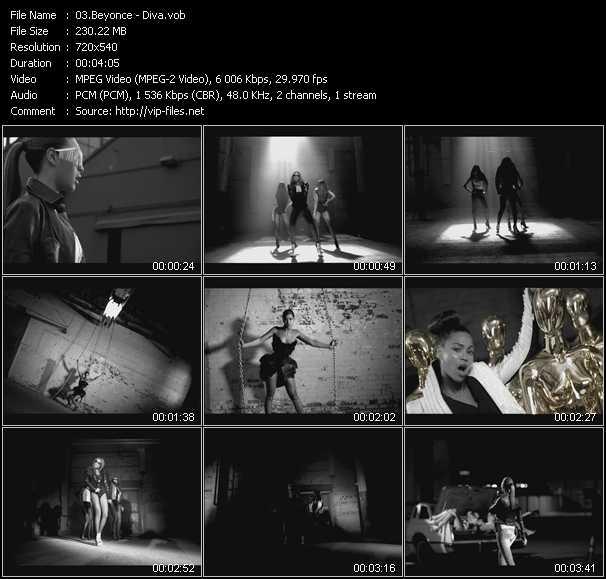 video Diva screen